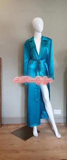 cf4674bd9c Dressing gown Long silk blue dressing gown Ladies dressing gown Womens dressing  gown Pure silk dressing gown Long silk robe Ladies silk UK
