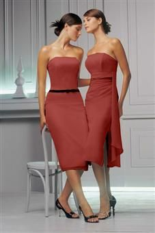 Rust color dress for a wedding