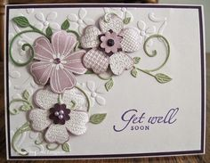 I have a lot of snippets to play with, and I made a get well card using a few of them for this...