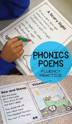 We love to use phonics poems as a fun tool for fluency, visualization, and more! Read the post to see how we use them each week.