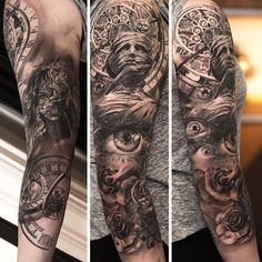 Amazing astronomical 3/4 sleeve from Niki Norberg (love that he got to sign this one)