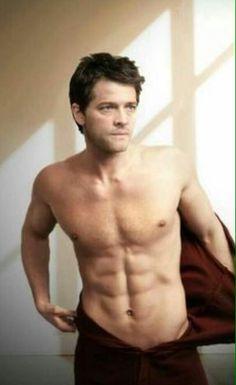 Misha Collins shirtless! Oh good god!