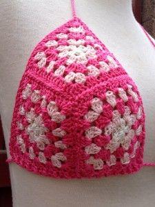 crochet inspiration: granny square bikini top