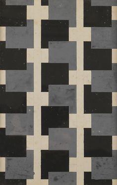 "Varvara Stepanova (Russian, 1894-1958), Fabric design, c.1924. Gouache, 26.5 x 16.5 cm. """
