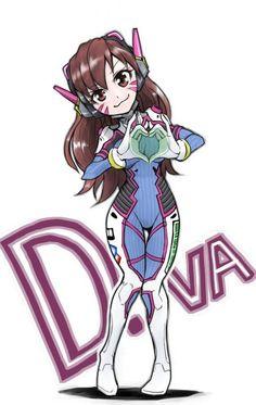 #Overwatch D.Va #Fanart #Dessin de makoXmako