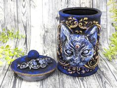 Cat Bast Apothecary Jar Potion Bottle / Wiccan Altar Clay Apothecary Bottle Gothic Home Decor Witchy Decor Goth Witch Pagan Gifts Pet Urn Apothecary Decor, Apothecary Bottles, Wiccan Decor, Wiccan Altar, Moon Witch, Witchcraft Supplies, Wiccan Jewelry, Pet Urns, Potion Bottle