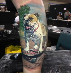 "6,211 gilla-markeringar, 82 kommentarer - Ben Kaye (@dbkaye) på Instagram: ""First day at @nztattooexpo been a fun day! 🐶🐕🏂 @inkjecta @fusion_ink @fusionink_ca @killerinktattoo…"""