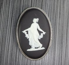 Vintage Wedgwood Black Jasper Pin 1960's by BelmarJewelers on Etsy