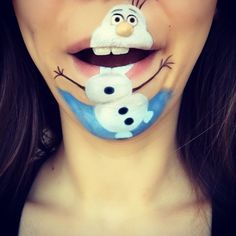 oh my gravy hehehehehe that's so cute its olaf!!!!!!!