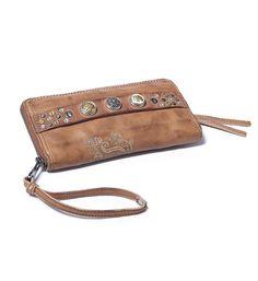 Noosa Amsterdam Bag Classic Wallet. Deze Noosa wallet kan als portemonnee, maar ook als clutch gebruikt worden, met ruimte voor 3 chunks - Midbrown - NummerZestien.eu