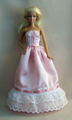 Handmade Barbie ClothesPink Satin Barbie by PersnicketyGrandma, $12.00