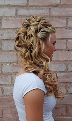 Jamie's hair would be beautiful like this for the wedding!