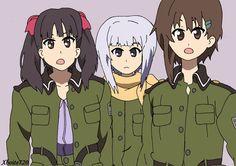Kanata, Kureha and Noel - Sora no Woto by Xboite720.deviantart.com on @DeviantArt