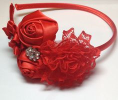 Beautiful Satin Lined Girls Hair Band with by PoshChicBowTique