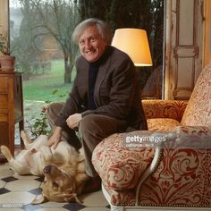 French Actor Claude Rich at Home