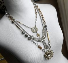 Vintage Assemblage Necklace Long Eclectic by Vinchique on Etsy, $295.00