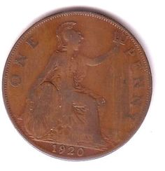 One Penny Coin GB pre decimal currency 1903-1939 great collectors item