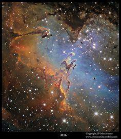M16, the Eagle Nebula | by J-P Metsavainio