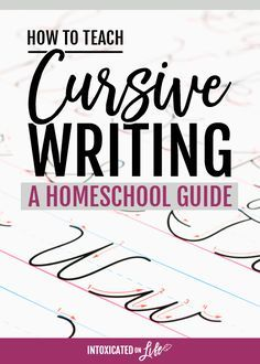 How to Teach Cursive Writing a Homeschool Guide is part of School subjects Calligraphy - We teach cursive writing not because we love it but because we want our kids to love learning, and the ability to quick and legibly write is a good start Teaching Cursive Writing, Learning Cursive, Cursive Writing Worksheets, Writing Resources, Essay Writing, Writing Tips, Teaching Resources, Writing Programs, Library Programs