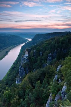Sächsische Schweiz – Bastei am AbendSichtweise | Sichtweise
