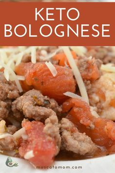 This Keto Spaghetti Bolognese Sauce is full of flavor and so versatile! Enjoy over your favorite low carb noodles or even over low carb vegetables! Bolognese Sauce, Spaghetti Bolognese, Sauce Recipes, Keto Recipes, Dinner Recipes, Awesome Food, Good Food, Low Carb Noodles, Low Carb Vegetables