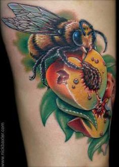 artist Nick Baxter - new school, background shading, combination of elements, photorealism, color!