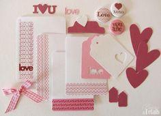 "Mini Kit ""LoveLoveLove""  Scrapbook, Project Life"