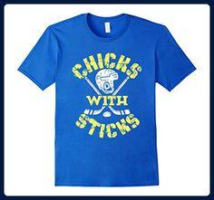 Mens Ice Hockey Novelty Girl Gifts T-Shirt Chicks With Sticks  XL Royal Blue - Sports shirts (*Amazon Partner-Link)