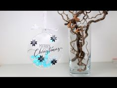 """Fuse Tool Christmas Ornament.  WRMK Fuse Tool for other projects than PL.  Using Clearly Besotted Stamps """"Ornamental Style"""" and Simon Says Stamp """"balloons"""" die."""