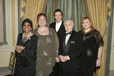 Recipients of the Third Annual OPERA NEWS Awards: Leontyne Price, Stephanie Blythe, Thomas Hampson, Julius Rudel, and Olga Borodina. (Photo © Dario Acosta 2008)