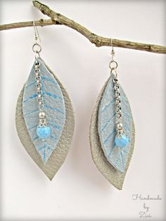 Check out our dangle & drop earrings selection for the very best in unique or custom, handmade pieces from our shops. Chain Earrings, Blue Earrings, Leather Earrings, Beaded Earrings, Etsy Earrings, Leather Bracelets, Handmade Leather Jewelry, Handmade Silver, Leather Crafts