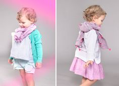 Nellystella Spring/Summer 2012. Love the cardigan, scarf, and shorts!