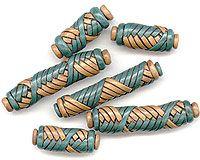 extruded polymer clay mummy beads via Mare Maksimova