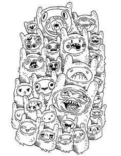 Finn Faces by jakeliven.deviantart.com on @deviantART