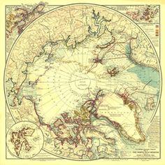 North Pole Regions Map 1907