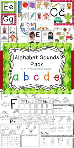 Over 200 pages of Initial Sound Alphabet Fun! Center or Work Station activities, no prep Homework or Morning Work sheets - this bundle has everything you need to teach letter recognition and letter sounds (phonics)!