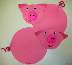 A great to have fun with pre-k kids when teaching them about pigs and pig farming, you can even write facts on the back!