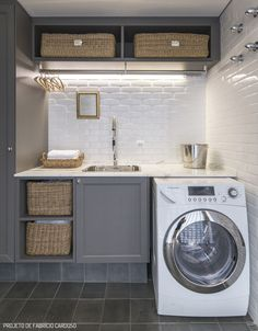 """See our internet site for additional relevant information on """"laundry room storage diy"""". It is actually a great place for more information. Home, Small Laundry Rooms, Small Decor, Room Storage Diy, Kitchen Sink Decor, Kitchen Cabinet Storage, Small Kitchen Storage, Kitchen Storage Shelves, Wall Storage"""