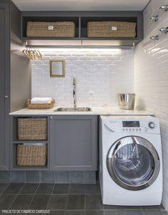 Decostore - Blog - Dicas - Dicas para decorar um apartamento pequeno - Lavanderia