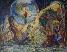 Order art prints of Avonelle's Tribe a sci fi artwork by Avonelle Kelsey