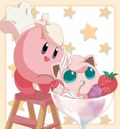 Kirby and Jigglypuff (Pokemon) - Super Smash Bros. Brawl #SSBB