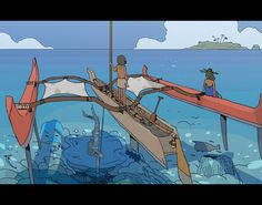 personal experimentations for future projects. Fantasy Inspiration, Story Inspiration, Ghibli, Coral Life, Environment Concept Art, Map Design, Environmental Art, Water Crafts, Landscape Art