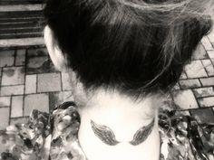#angel #wings #tattoo #neck #girly #tattoos
