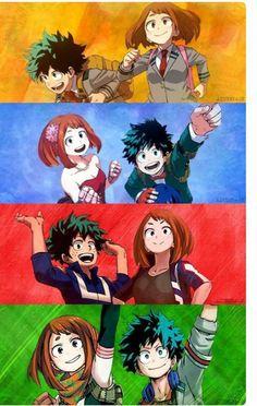 My Hero Academia // BNHA // Izuku Midoriya // Deku // Ochaco Uraraka // Uravity.they're so cutee Boku No Hero Academia, My Hero Academia Memes, Hero Academia Characters, My Hero Academia Manga, Kawaii Anime, 5 Anime, I Love Anime, Boku No Hero Uraraka, Anime Shop