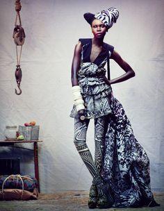 Photographer: Alek Wek -- Portrait - Editorial - Fashion - Photography - Pose
