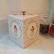 Для дома и интерьера ручной работы. Ярмарка Мастеров - ручная работа Короб для чая. Handmade.