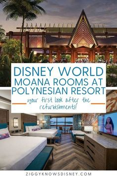 Ziggy Knows Disney has the first look at the Moana rooms at Disney World's Polynesian Resort! See the beautiful and unique refurbishments here. They are even refurbishing the rest of the hotel. Moana-lovers everywhere rejoice!