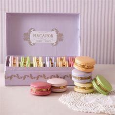 Two's Company French Macaron Trinket Box
