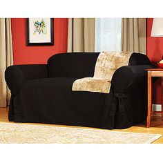 Slipcovers Black Loveseat Sofa Upholstery Couch Covers