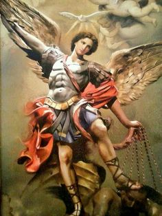 Saint Michael the Archangel, read and learn about this powerful Angel of God in these tumultuous times! when tempted and beseiged by evil, turn in prayer for help from Gods warrior Angel! He will come to your aid! Angels Among Us, Angels And Demons, Catholic Art, Religious Art, St Michael, Immaculée Conception, Male Angels, Angel Warrior, Ange Demon